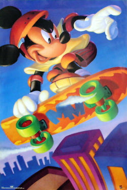 Mickey Mouse Skateboarding Star Disney Poster - OSP Publishing