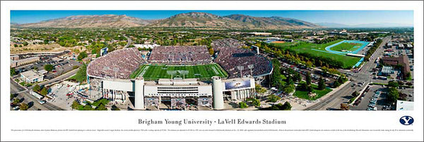 Brigham Young University Edwards Stadium Aerial Panorama - Blakeway Worldwide