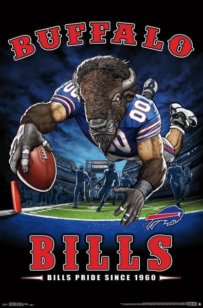 "Buffalo Bills ""Bills Pride Since 1960"" NFL Team Theme Poster - Trends International"