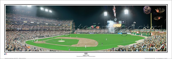 San Francisco Giants Barry Bonds 600th Home Run Panoramic Poster Print - Everlasting Images 2002