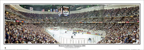 a980749b2 Anaheim Ducks 2003 Stanley Cup Finals Game Night Panoramic Poster Print -  Everlasting Images