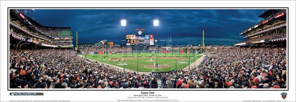 San Francisco Giants 2010 World Series Game One Panoramic Poster Print - Everlasting Images