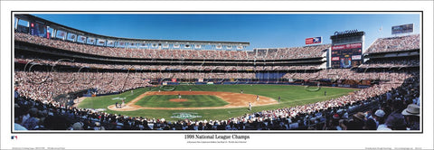 "San Diego Padres Qualcomm Stadium ""1998 National League Champions"" Panoramic Poster - Everlasting"