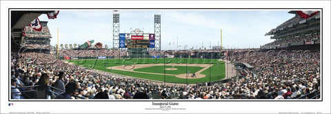 San Francisco Giants Oracle Park Inaugural Game Panoramic Poster Print (2000) - Everlasting Images