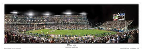 "Denver Broncos ""23-Yard Line"" Mile High Stadium c.1993 Panoramic Poster Print - Everlasting Images Inc."