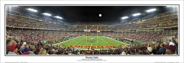 Washington Redskins FedEx Field Game Night Panoramic Poster Print - Everlasting