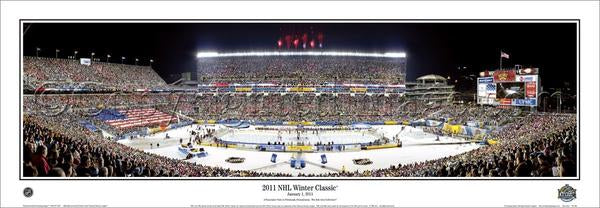 NHL Winter Classic 2011 Penguins vs. Capitals at Heinz Field Panoramic Print - Everlasting Images