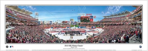 NHL Winter Classic 2015 at Nationals Park (Washington Capitals vs. Blackhawks) Panoramic Poster Print - Everlasting Images