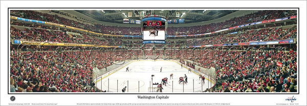 Washington Capitals Capital One Arena Game Night Panoramic Poster Print - Everlasting Images