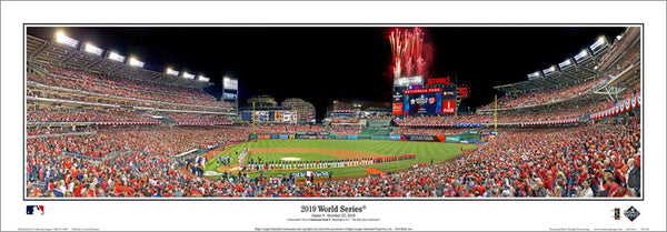 "Washington Nationals ""World Series Majesty 2019"" Nationals Park Panoramic Poster Print - Everlasting (DC-434)"