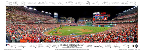 "Washington Nationals ""World Series Action"" Nationals Park Panoramic Poster Print w/27 Facs. Signatures - Everlasting (DC-437)"