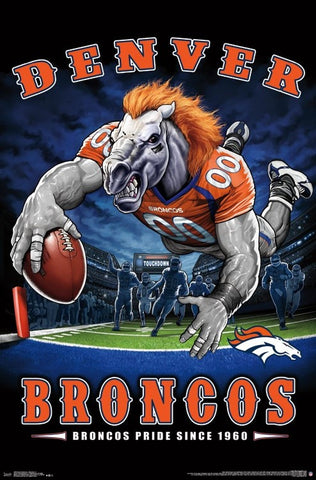 "Denver Broncos ""Broncos Pride Since 1960"" NFL Team Theme Poster - Trends International"