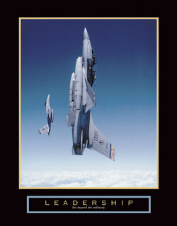 "Fighter Planes ""Leadership"" Motivational Poster Print - Front Line"