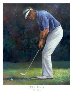 "Golf Art ""The Putt"" Premium Poster Print by T.C. Chui - Front Line Art Publishing"