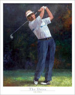 "Golf Art ""The Drive"" by T.C. Chui Premium Art Poster - Front Line Art Publishing"
