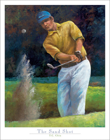 "Golf Art ""The Sand Shot"" Poster Art Print by T.C. Chui - Front Line Art Publishing"
