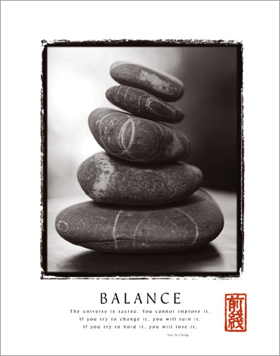 "Healing Rocks ""Balance"" Tao Wisdom Motivational - Front Line"