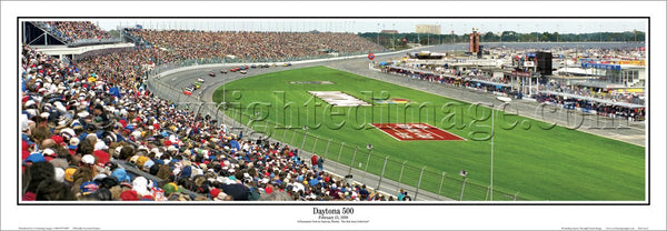 Daytona 500 (1998) NASCAR Racing Panoramic Poster Print - Everlasting Images
