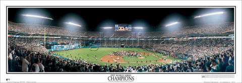 Florida Marlins 1997 World Series Champions Panoramic Poster Print - Everlasting Images