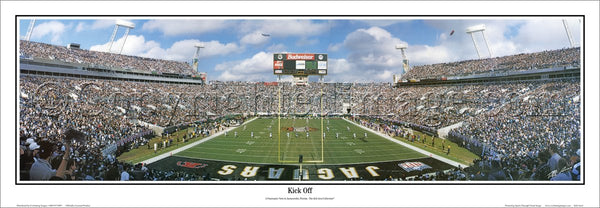 "Jacksonville Jaguars ""Kick Off"" Alltell Stadium Playoff Gameday Panoramic Poster - Everlasting"