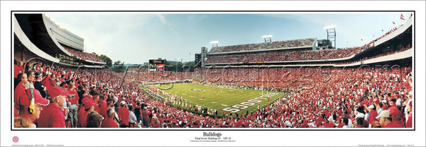 Georgia Bulldogs Sanford Stadium Gameday Panoramic Poster Print (2004) - Everlasting Images