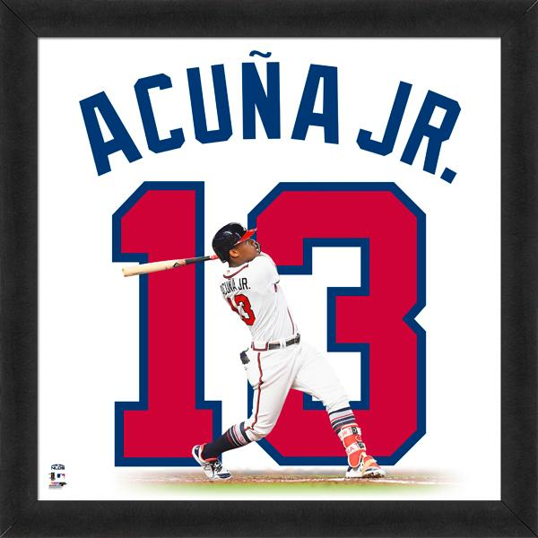"Ronald Acuna Jr. ""Number 13"" Atlanta Braves MLB FRAMED 20x20 UNIFRAME PRINT - Photofile"