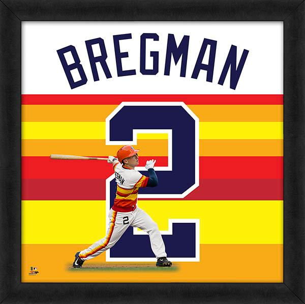 "Alex Bregman ""Number 2"" Houston Astros FRAMED 20x20 UNIFRAME PRINT - Photofile"