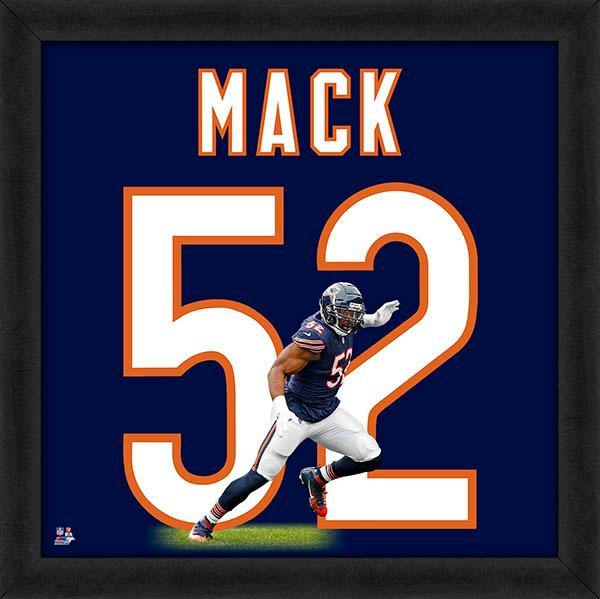 "Khalil Mack ""Number 52"" Chicago Bears NFL FRAMED 20x20 UNIFRAME PRINT - Photofile"