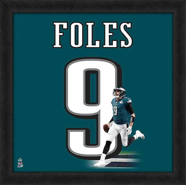 "Nick Foles ""Number 9"" Philadelphia Eagles QB NFL FRAMED 20x20 UNIFRAME PRINT - Photofile"