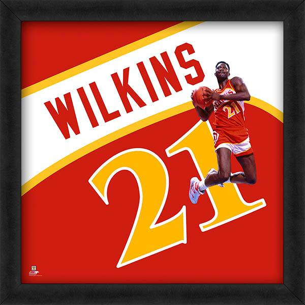 "Dominique Wilkins ""Number 21"" Atlanta Hawks FRAMED 20x20 UNIFRAME PRINT - Photofile"