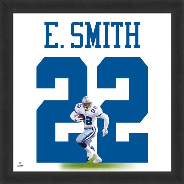 "Emmitt Smith ""Number 22"" Dallas Cowboys NFL FRAMED 20x20 UNIFRAME PRINT - Photofile"