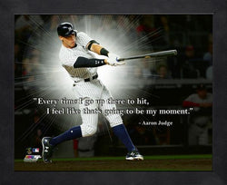"Aaron Judge ""My Moment"" New York Yankees 16x20 PRO QUOTE Inspirational FRAMED PRINT - Photofile"