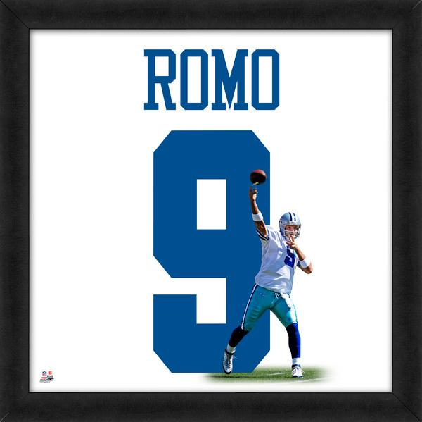 "Tony Romo ""Number 9"" Dallas Cowboys NFL FRAMED 20x20 UNIFRAME PRINT - Photofile"