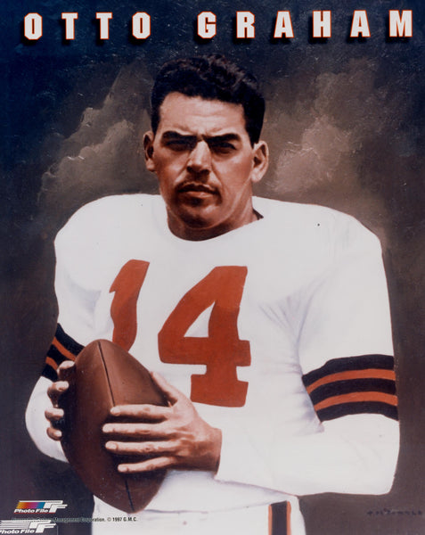 Otto Graham Cleveland Browns Legend Premium Poster Print - Photofile Inc.