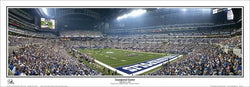 "Indianapolis Colts ""Inaugural Game"" 9/7/2008 Lucas Oil Stadium Panoramic Poster Print - Everlasting Images"