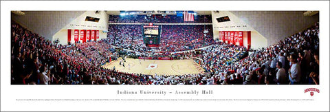 Indiana Hoosiers Basketball Assembly Hall Panoramic Poster Print - Blakeway Worldwide