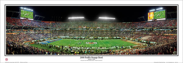 Kansas Jayhawks Football 2008 FedEx Orange Bowl vs. Virginia Tech Panoramic Poster - Everlasting