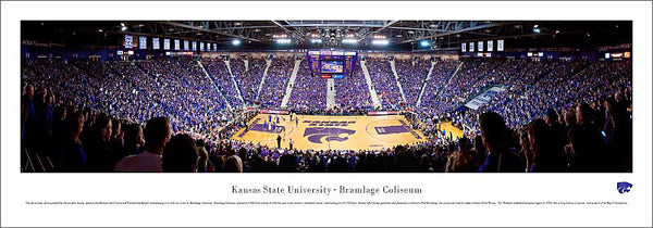 "Kansas State Wildcats Basketball ""Rivalry"" Panoramic Poster Print - Blakeway Worldwide"