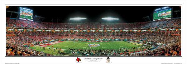 Louisville Cardinals Football vs. Wake Forest 2007 Orange Bowl Panoramic Poster Print - Everlasting Images