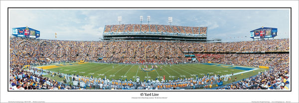 "LSU Football ""45 Yard Line"" Tiger Stadium Panoramic Poster Print - Everlasting Images 2006"