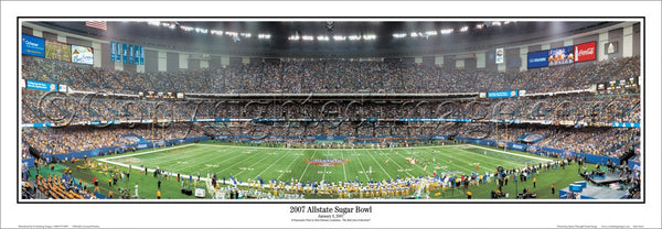 LSU Tigers vs. Notre Dame Sugar Bowl 2007 Panoramic Poster Print - Everlasting Images