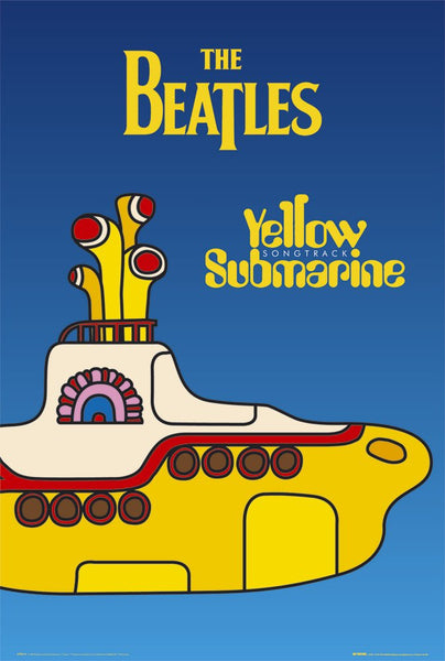 The Beatles Yellow Submarine Songtrack (1999) Album Cover Poster - GB Eye (UK)