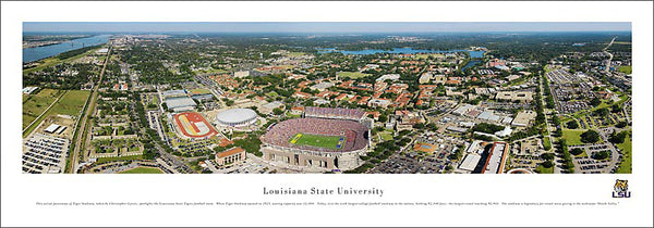 LSU Tigers Football Gameday Aerial Panoramic Poster Print - Blakeway Worldwide