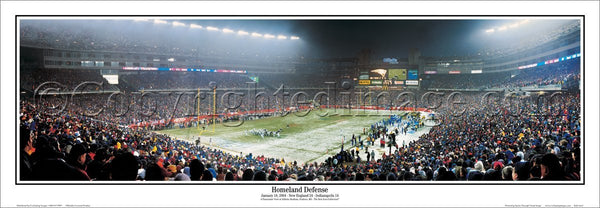 "New England Patriots Gillette Stadium ""Homeland Defense"" (2004 AFC Championship Game) Panoramic Poster Print"