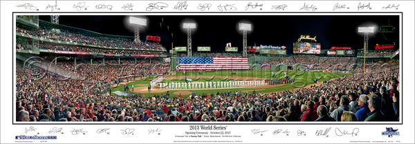 "Fenway Park ""World Series Majesty"" (2013) Panoramic Poster w/26 Signatures - Everlasting (MA-352)"