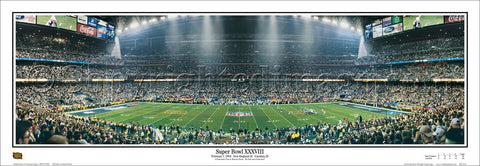 New England Patriots Super Bowl XXXVIII (2004) Champions Panoramic Poster Print - Everlasting Images