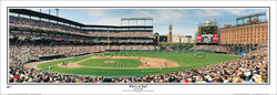 "Oriole Park at Camden Yards ""Who's At Bat?"" Baltimore Orioles Panoramic Poster Print - Everlasting Images"