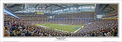 Ford Field Detroit Lions Inaugural Game (2002) Panoramic Poster Print - Everlasting Images