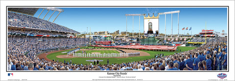 Kansas City Royals Opening Day 2016 Kauffman Stadium Panoramic Poster Print - Everlasting (MO-398)