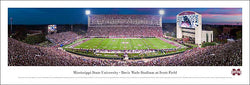 Mississippi State Bulldogs Football Game Night Panoramic Poster Print - Blakeway 2009